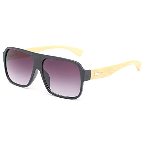 sol Unisex de Black Moda Bambú Lens de Lens de Frame Color Cuadradas Gafas Purple Unisex Conducción Purple de Frame Black con Madera Colores de Gafas bambú Gafas de Lentes Ynw1qtxdP