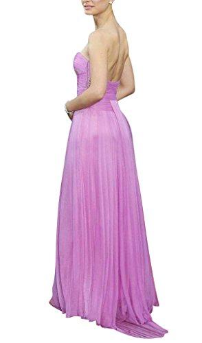 Chiffon Einfaches Design Lila BRIDE GEORGE Abendkleid qvwRxRZa
