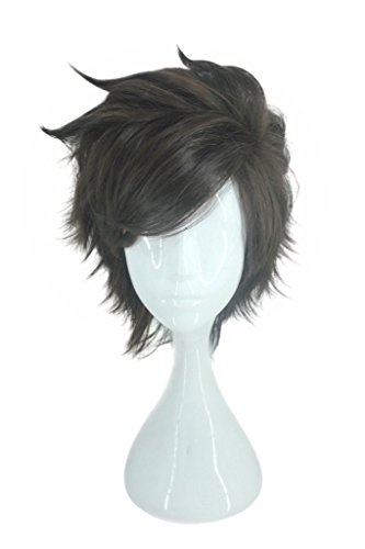 Good Character Costumes (Cosplay Costume Wig for Ow Overwatch Tracer Characters Short Layered Brown Hair)