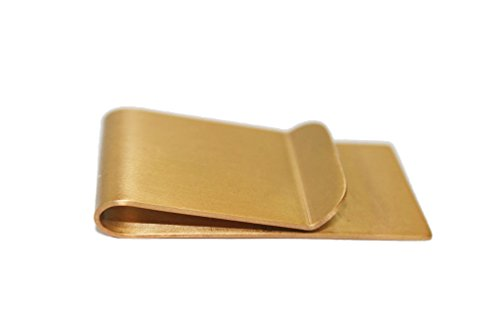 [Braudel Stainless Steel Money Clip and Credit Card Holder,Slim Design for Cash & Cards,Gift For Men (Golden)] (Brass Plated Card Holder)