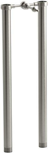 Chrome Symbol Tub (KOHLER K-18492-BN Symbol Riser Tubes, Vibrant Brushed Nickel)
