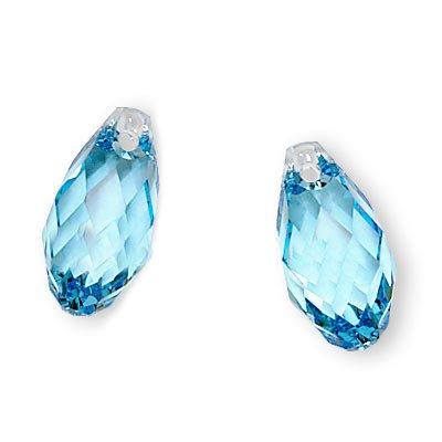 Swarovski Crystal, 6010 Briolette Pendants 13x6.5mm 2 Pieces, ()