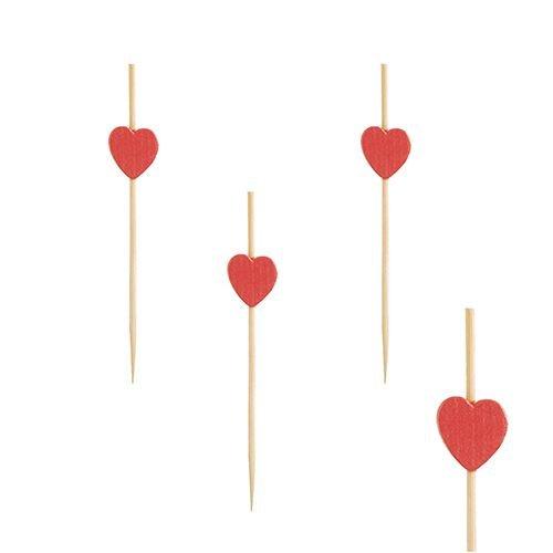 "100 Bambus Fingerfood Spieße 18 cm /""Heart/"" Herz Deko Papstar"