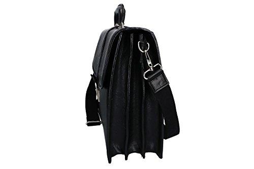 Cartella PIERRE CARDIN borsa professionale nero pelle Made in Italy VH79