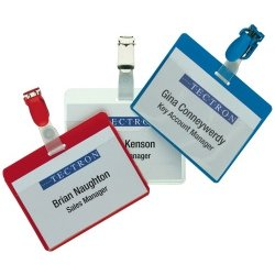 Pack of 25 - Durable Visitors Badges, Clear, 60 x 90mm