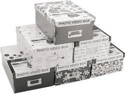 Bulk Buy: Pioneer Photo Storage Box 4.5''X8''X11.5'' Assorted B&W Designs B1BW (2-Pack) by Pioneer Photo Albums