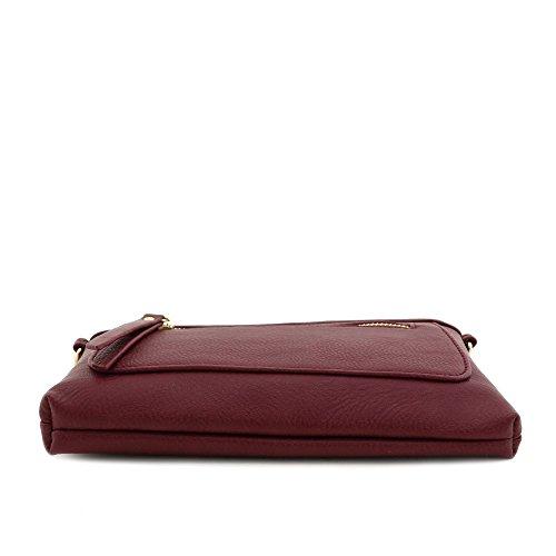Wristlet Burgundy functional and Clutch Multi Crossbody Bag 5vYxW0w