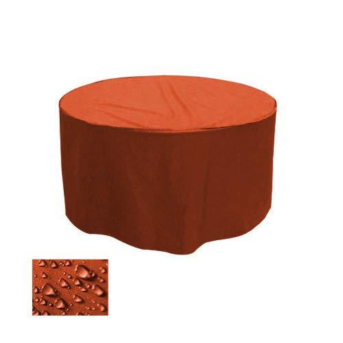 Holi Europe Premium Gartentisch Abdeckung Gartenmöbel Schutzhülle RUND ø 205cm x H 90cm Orange