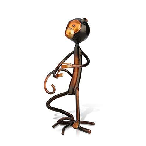 - NOMIMAS Monkey Shaped Wine Bottle Holder Iron Sculpture Wine Shelf Metal Practical Wine Racks Home Decoration