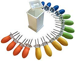 - Butter Your Corn Set with Jumbo Corn Cob Holders (For 8) and Norpro Butter Spreader