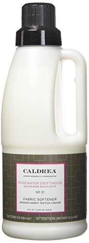 Caldrea Fabric Softener, Rosewater Driftwood, 32 Ounce (Rosewater Fragrance Home)