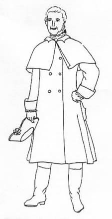 1750-1800 Mens' Greatcoat Pattern (Hancock Costume Patterns)