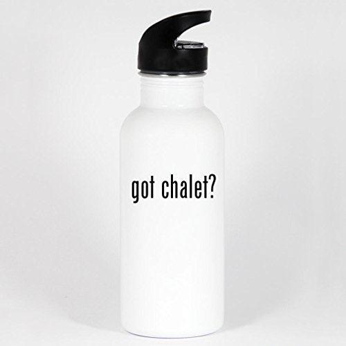 got chalet? - 20oz White Stainless Steel Water