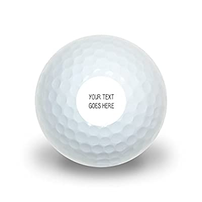 Graphics and More Personalized Custom White Background Any Occasion Novelty Golf Balls 3 Pack