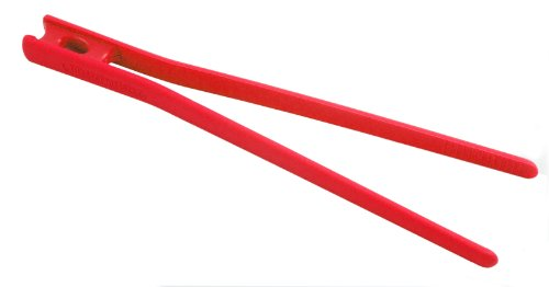 Messermeister Silicone Chopstick Food Tong Kitchen Tool, 10.5 Inch, Red