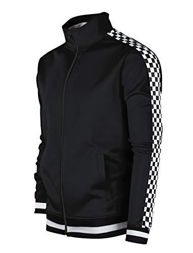 Screenshotbrand Mens Hip Hop Premium Slim Track Jacket – Side Taping