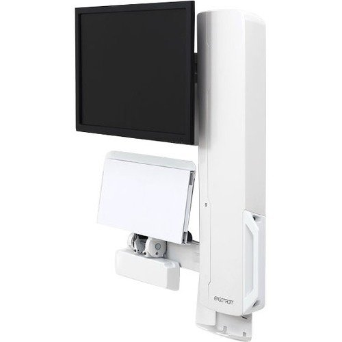 Ergotron StyleView Sit-Stand Vertical Lift, High Traffic Area (White) 61-081-062 Flat Panel Monitor Lift Cabinet