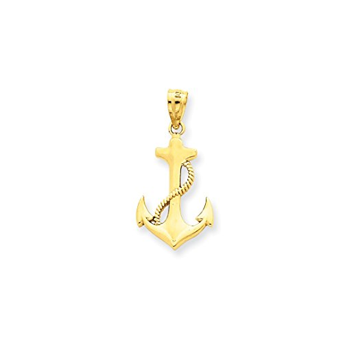 ICE CARATS 14k Yellow Gold Nautical Anchor Ship Wheel Mariners Pendant Charm Necklace Sea Shore Fine Jewelry Ideal Gifts For Women Gift Set From - Gold Wheel Ships