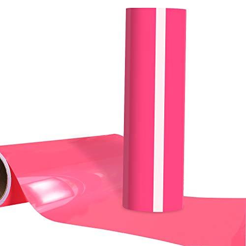 Neon Pink HTV 12x12ft Heat Transfer Vinyl Roll for Tshirt