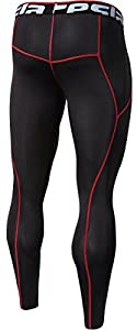 DRST TM-P16-BKRZ_2X-Large Tesla Men's Compression Leggings Baselayer Cool Dry Sports Tights Pants P16