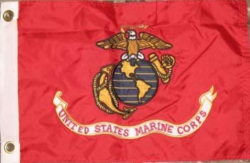 12x18 Embroidered Double Sided USMC Marine Marines Corps Solarmax Nylon 12