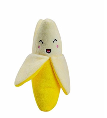 Dog Puppy Chew Toy Squeaky Plush Sound CuteFruits Banana Design Toys Mchoice