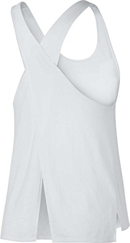 Nike White Mesh Tank Top - NIKE Women's Miler Cross-Back Running Tank Top,(White,X-Small)