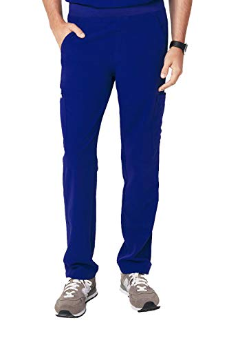 FIGS Medical Scrubs Men's Axim Cargo Scrub Pants, Deep Royal Blue XL
