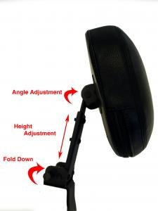 Fully Adjustable Driver's Backrest For Honda VTX 1300/1800 C AND N, 2002-2009 Models (Honda Vtx Driver Backrest)