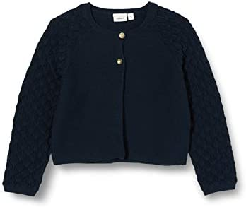 NAME IT M/ädchen Nmffolira Ls Short Knit Card Strickjacke