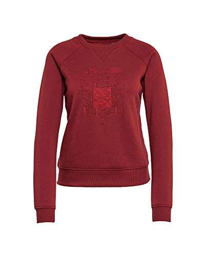 9819 bright Rot G Donna Russet Manica star Felpa Raw Lunga wxUqPzT
