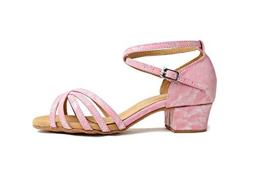 Talon Qiusa Mesdames Brown coloré Latine Synthétique Pink Salsa 3 Light 5 5cm De 3 Chunky Gl257 Uk Heel 5cm Taille Heel Danse Sandales Soirée Chaussures Faible wIFZ5OrIq