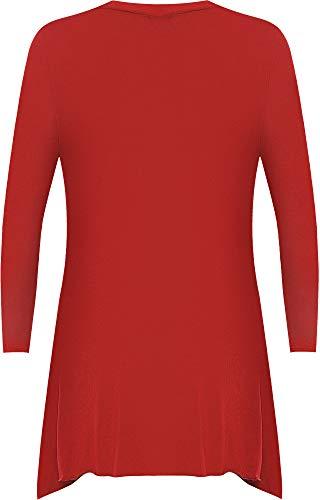 Lustrini Da Forti Luccicante Donna Maglia 12 Lunga Forti Donna Manica 30 Taglie Nuova Red Taglie Cardigan qwUgEIFH
