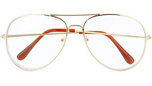 Men Women Sunglasses Retro Vintage Glasses UV Protection (Gold, ()