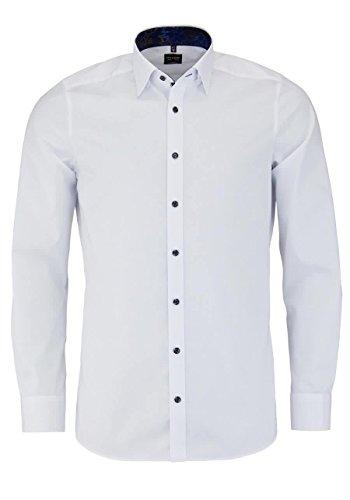 OLYMP Level Five body fit Hemd Langarm mit Besatz weiß