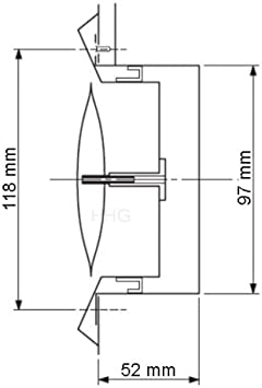 Domodul /® Tellerventil Edelstahl V2A Anschlu/ß:DN100 Edelstahl natur