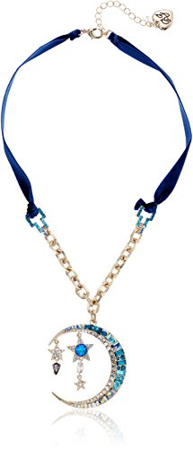 Betsey Johnson Blue Moon Pendant Necklace