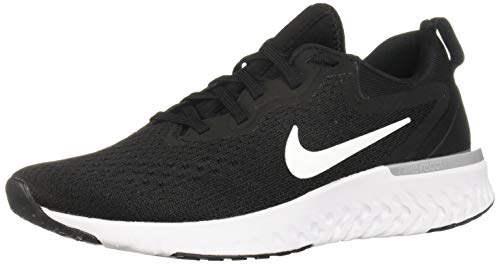 (Nike Womens Odyssey React Running Shoes Black/White/Wolf Grey 9.5)