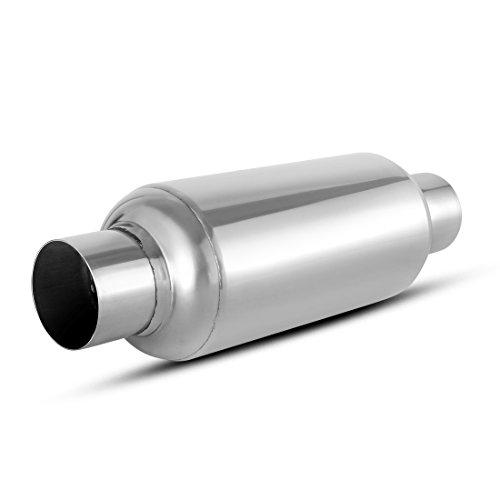 2.5 Inch Inside Inlet Muffler, AUTOSAVER88 Universal Stainless Steel Welded Exhaust Muffler Deep Sound for Cars, 14