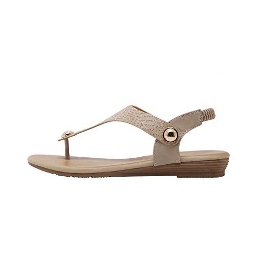 Sandali In Metallo Per Donna Sandali Infradito Sandali Infradito Da Spiaggia Perizoma N. 803 Albicocca