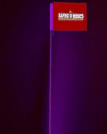 SafeGlo Original Offroad LED Whip with RCA 4/' Foot Blue Sandrail UTV ATV