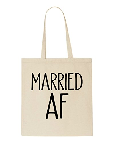 Shopper Funny Bag Party Wedding Gift Beige Af Tote Engagement Married fw68T