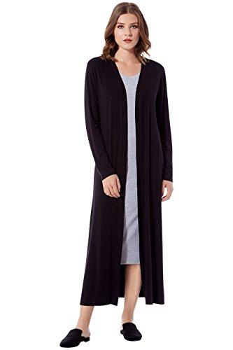 Rohb by Joyce Azria Cypress Long Line Side Slit Cardigan (Black) Size XS-S