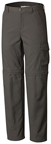 (Columbia Youth Boys Silver Ridge III Convertible Sun Pants, Moisture Wicking, Grill, Large)