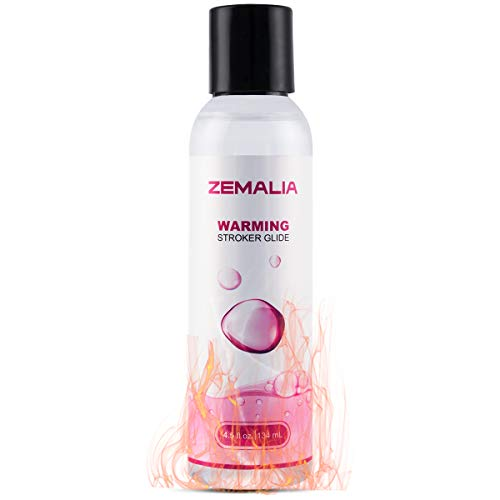 (ZEMALIA Water-Based Lubricants Warming Glide Suitable for Sensitive Skin Made in USA 4.5OZ )