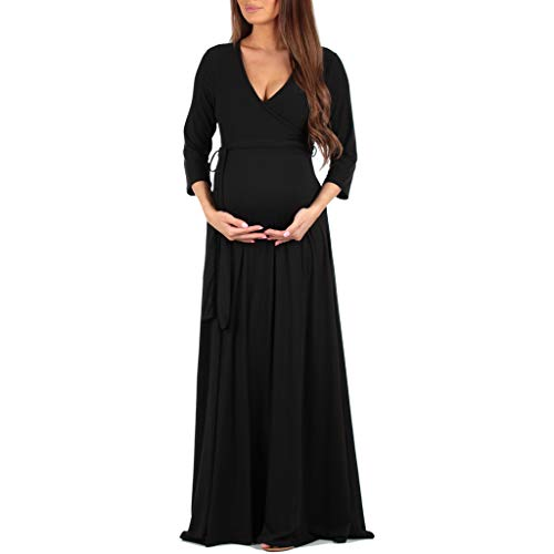 3a58d33deac Women s Faux Wrap Maternity Dress with Adjustable Belt - Made in USA