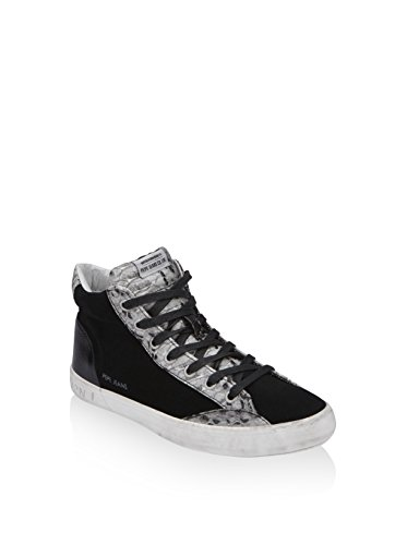 baskets mode pepe jeans clinton cow snake noir