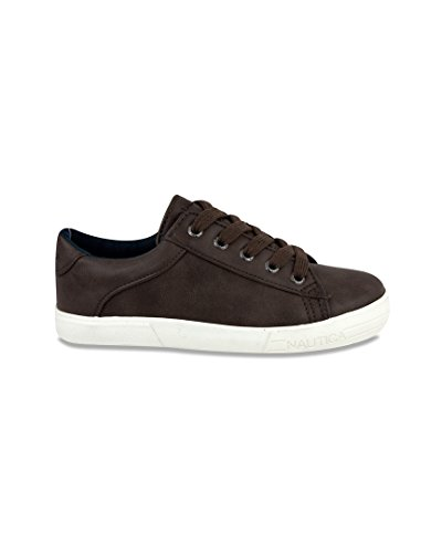 Nautica Boys' Manifest Boat Shoe, 13T (Boys Brown Leather Shoes)
