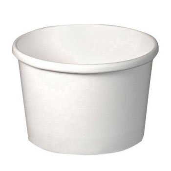SOLO H4085-2050 Flexstyle Double Poly Paper Containers, 8 oz, White, 25/Pack - 500 containers per case, 25 per tube.
