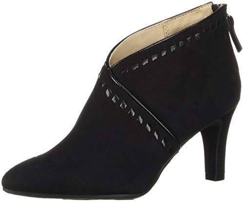 (LifeStride Women's GIADA Ankle Boot, Black, 9.5 M)